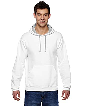 Fruit Of The Loom Sofspun Adult Hooded Sweatshirt (White) (2X)