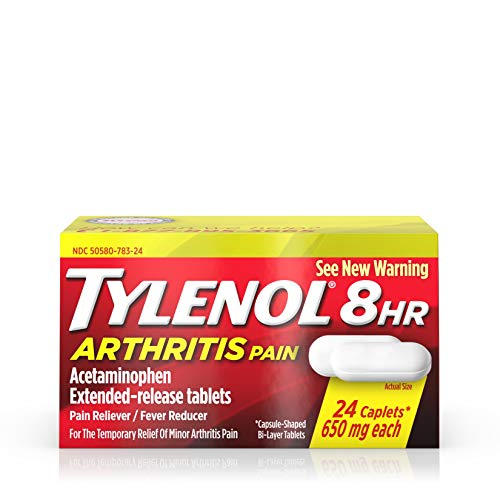 - Tylenol 8 Hour Arthritis Pain Tablets with 650 mg Acetaminophen for Arthritis & Joint Pain, 24 ct