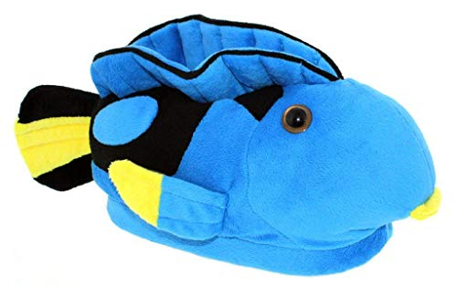 9092-9 - Blue Tang - X-Small (Toddler) - Happy Feet Animal Slippers
