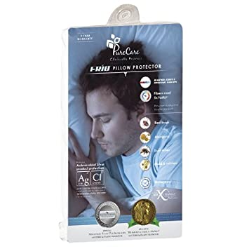 PureCare SG505 StainGuard Cotton Terry Pillow Protector Queen White
