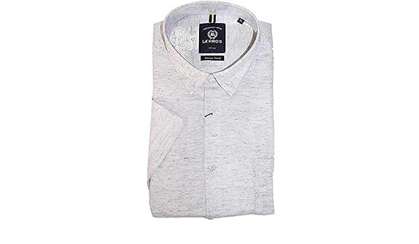 LERROS - Camisa de manga corta: Amazon.es: Ropa y accesorios