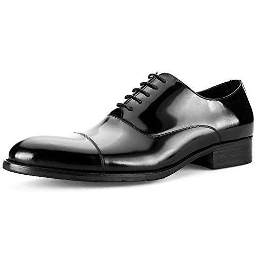 para para Vestir Charol Zapatos De Negocios De Zapatos Redonda Cabeza Zapatos Boda Hombres Black De Cuero 1qwqxvRT
