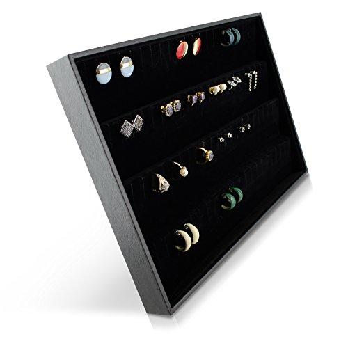 venkon schmuckkasten f r aufbewahrung pr sentation von ohrringe broschen etc schwarz ca. Black Bedroom Furniture Sets. Home Design Ideas