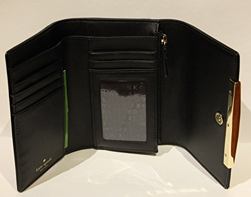 Kate Spade Camden Way Callie Leather Trifold Wallet (Black)