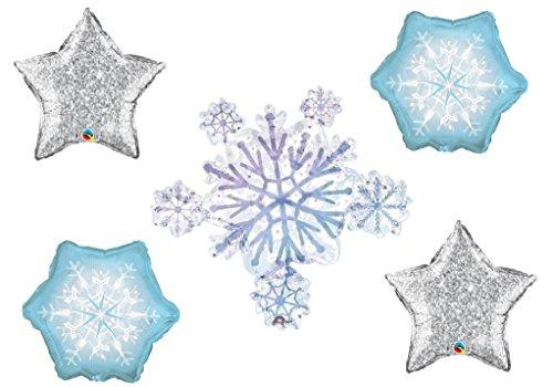 Glistening Snowflakes  Balloon -