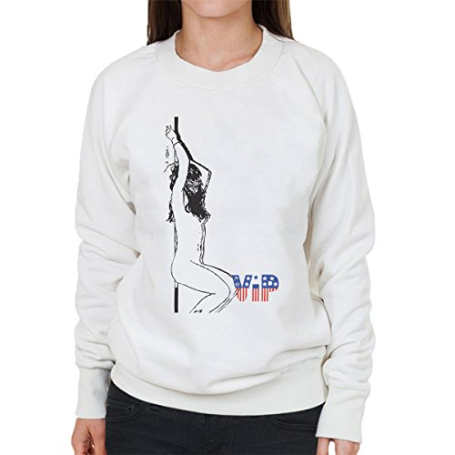 VIP Naked Pole Dancer Sketch Women's Sweatshirt White