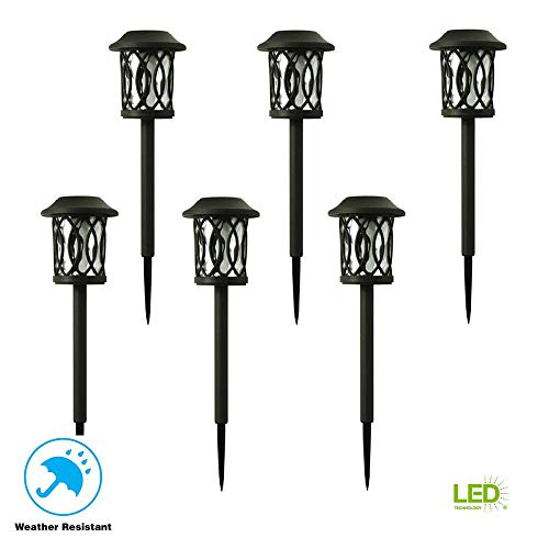Hampton Bay Solar Bronze Outdoor Integrated LED 3000K 6-Lumens Landscape Pathway Light (6-Pack) (Hampton Solar Bay)