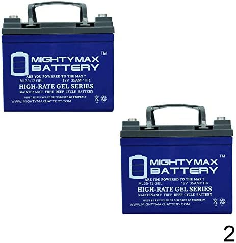 Mighty Max Battery 12V 35AH Gel Battery for Pride Mobility Jazzy Select GT - 2 Pack Brand Product