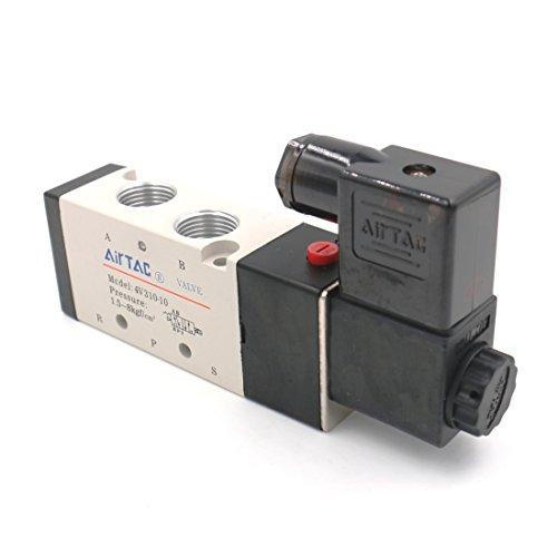 Baomain Pneumatic Solenoid Air Valve 4V310-10 AC110V 5 Way 2 Position PT3/8
