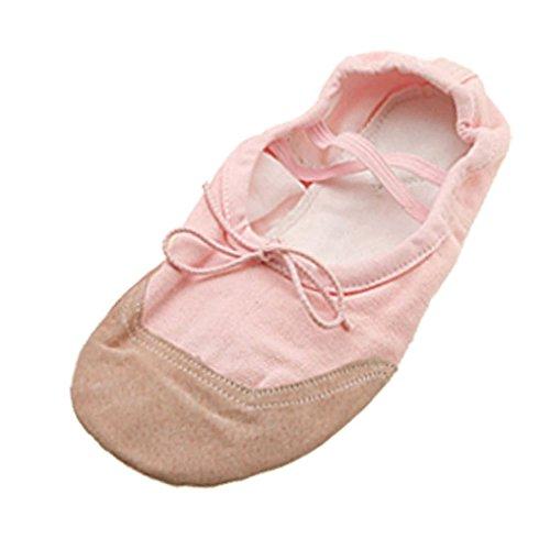Tanzenschuhe - TOOGOO(R) Damen weiche Sohle Ballet Tanz Tanzenschuhe Groesse US 9.5 (UK 7) rosa