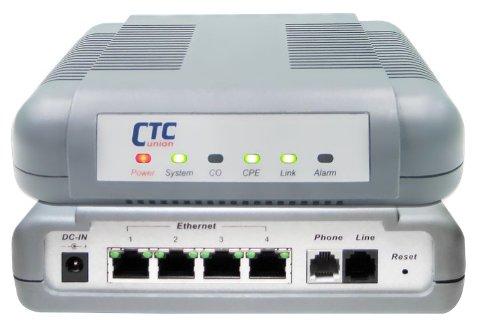VDTU2A-304 VDSL2 LAN Extender - VDSL2 DMT Ethernet modem with 4 port 10/100BaseTX -