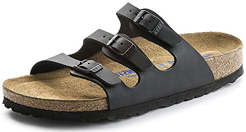 Birkenstock Women's Florida Soft Footbed Birko-Flor Black Birko-flor Sandals - 40 M EU / 9-9.5 B(M) US
