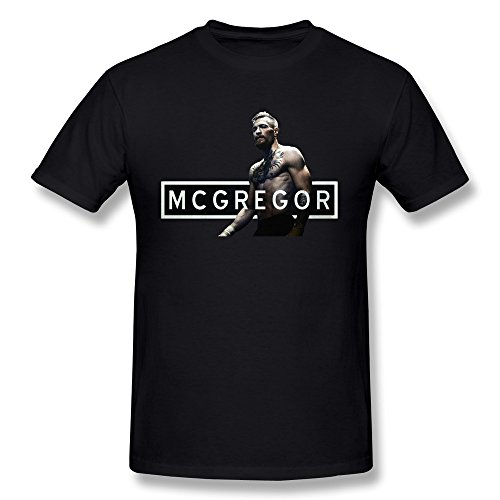 Love Fighters T-shirt (AnneLano Men's Conor Mcgregor Fighter T Shirts Medium Black)