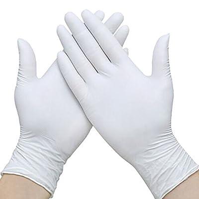 Nitrile Exam Gloves, Dental Food Medical Safe Gloves (Pack of 100) Non-Sterile Safety Gloves