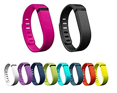 Dots Polka Dots Replacement Color Band with Clasp for Fitbit Flex , Band only no tracker included (Large)