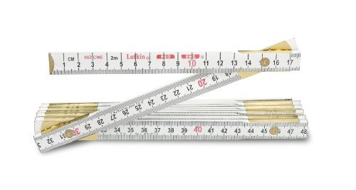 Lufkin 062CME 2m 6-Feet by 5/8-Inch Metric and English Wood Rule Red End by Lufkin ()