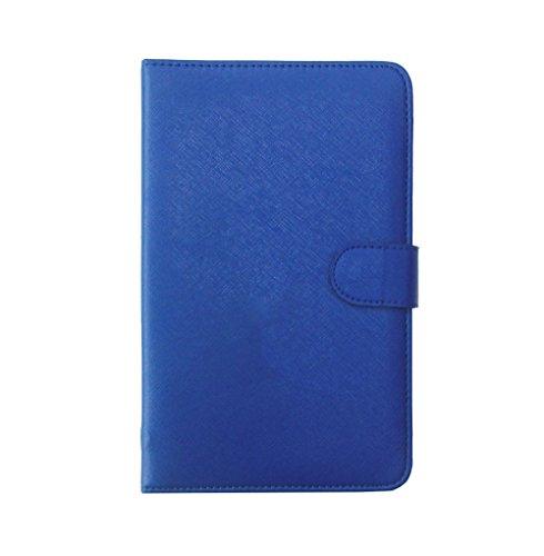 Tsmine Lenovo IdeaTab A1000 A1000L Tablet Keyboard Case - Micro-USB Keyboard w/ PU Leather Case Stand Cover for Lenovo IdeaTab A1000 A1000L Tablet PC, Navy Blue