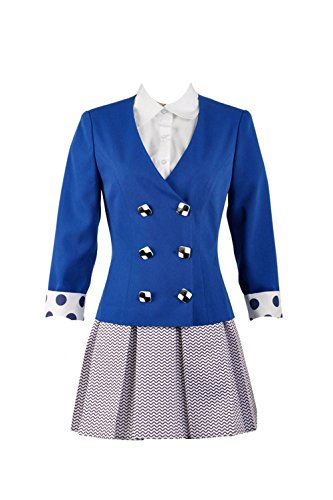 (Heathers The Musical Rock Musical Veronica Sawyer Stage School Dress(Female X-Large) Blue )