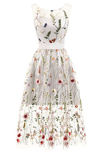 Erosebridal Ballkleider Stickerei Abendkleid Tüll Knöchellangen Lange Blumen CwxqOvTw0