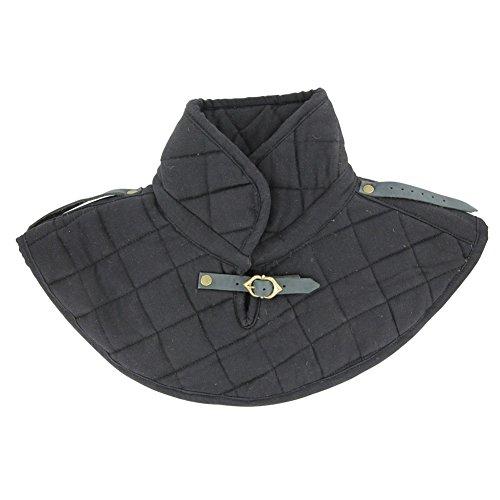 Renaissance Cotton Armor Padding Collar Medieval Garment Black