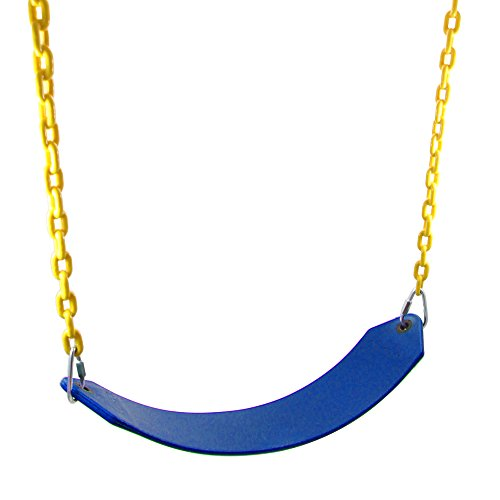 JGS Heavy Duty Kids Swing Seat with Upgraded Chain, Replacement for Children Indoor Outdoor Wooden Playground Swing Set (Blue)
