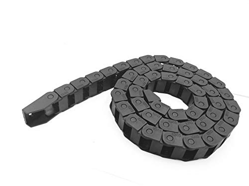 LUOYIMAO R18 10mm x 15mm?Inner Hinner W?Black Plastic Cable Wire Carrier Drag Chain 1M Length for CNC (Black-R18, 10X15)