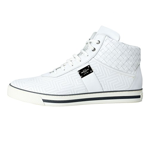 Gianni Versace Mens Leather Hi Top Sneakers Shoes US 12 IT 45; uuOYkGTIm