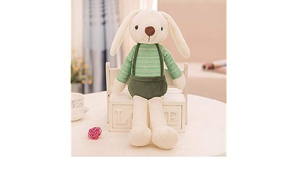 MIAOOWA Official Store Bunny Relleno Juguetes Creativos Azúcar Conejo Felpa Juguete Niña Juguetes Encantadores para Niños Conejo Muñeca Almohada Kawaii Regalo De Cumpleaños De Felpa 40cm Verde: Amazon.es: Juguetes y juegos