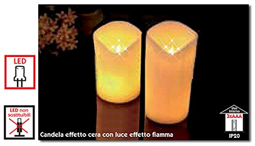 Candela led effetto cera: amazon.it: illuminazione