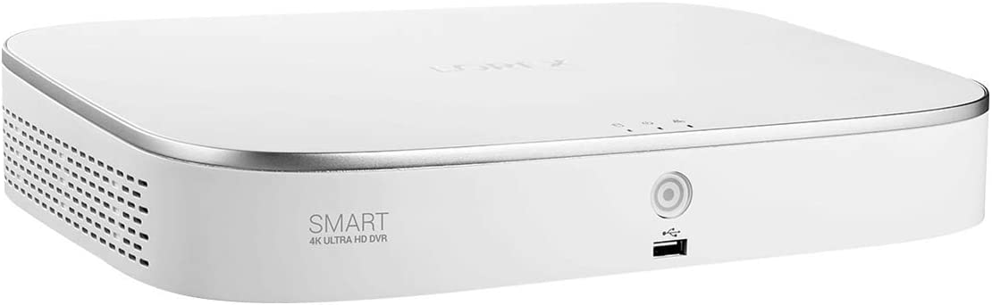 Lorex D861A82 4K Ultra HD 8 Channel 2TB HDD Analog DVR with Smart Motion Detection and Smart Home Voice Control, 1 HDD Slot, White (M. Refurbished)