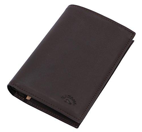 cowhide Wallet 653017 Chocolate KATANA Wallet leather KATANA soft 1xqwa