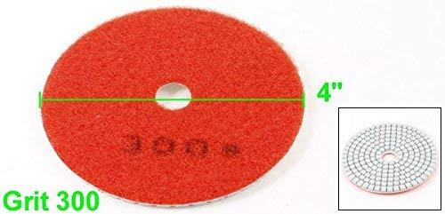 Red 10cm Dia 5mm Thickness 300 Grain Marble Diamond Polishing Pad