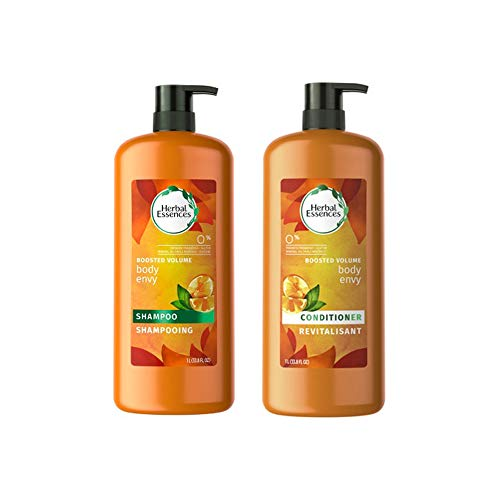 Herbal Essences Body Envy Volumizing Shampoo and Conditioner, 33.8 Ounce - Essences Body Herbal Envy