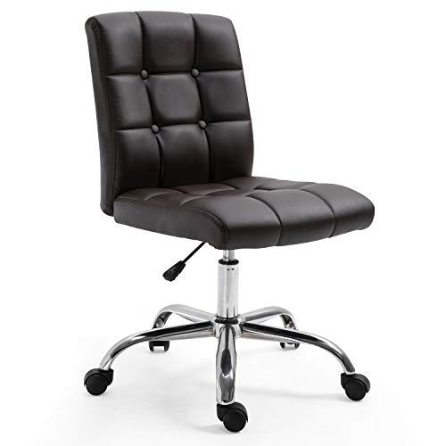 POLY & BARK EM-304-BRN Aria Task Chair, Brown