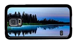 Hipster sale Samsung S5 Cases silent lake evening PC Black for Samsung S5