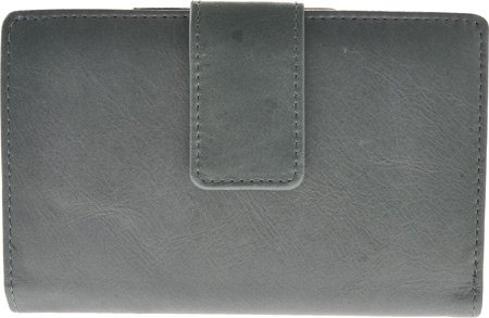 Leather Framed French Wallet - Budd Leather Distressed Framed French Purse Blue