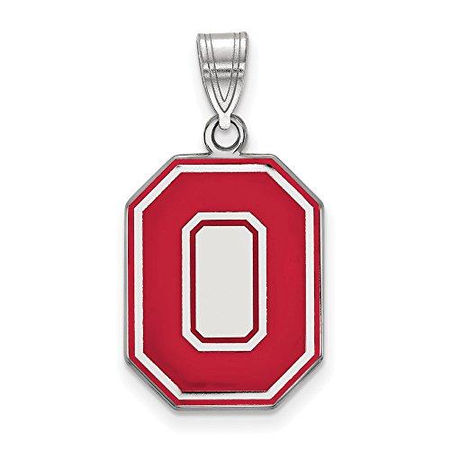 Collegiate Ohio State University Sterling Silver LogoArt Ohio State University Large Enamel - 14kt Jewelry Ohio Pendant Gold