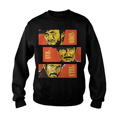 Zinko Unisex The Good, The Bad and The Ugly Sweatshirt (XL, Black) -