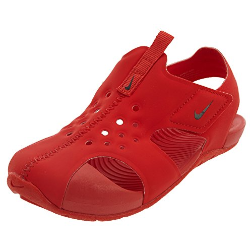 NIKE Sunray Protect 2 (TD) Baby-Boys Fashion-Sneakers 943827-600_10C - Habanero Red/Black-Habanero Red by NIKE