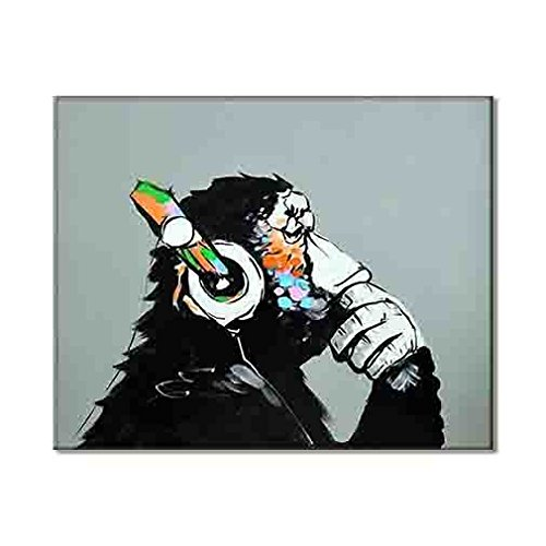 Dj monkey abstract chimp musician artwork popular canvas print home decor hd quality painting modern cool music picture