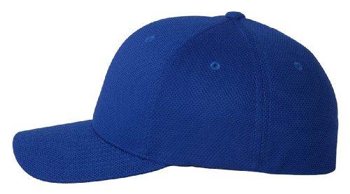 6577CD Flexfit Athletic Cool and Dry Pique Mesh Cap - OSFA (Royal)