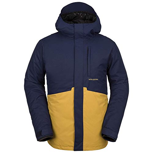 (Volcom Men's 17 Forty Insulated 2 Layer Shell Snow Jacket, Navy, Large)