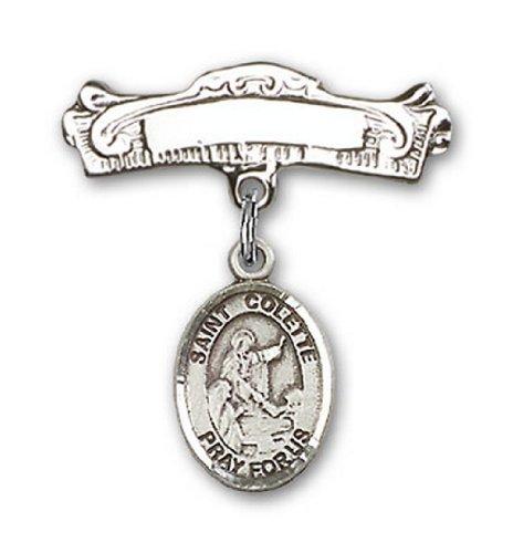 Icecarats Créatrice De Bijoux En Argent Sterling St. Charme Colette Broches Badge Arc 7/8 X 7/8