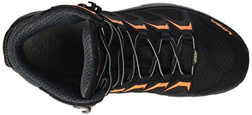 Lowa Innox GTX Mid, Stivali da Escursionismo Uomo Nero (Black/Orange)