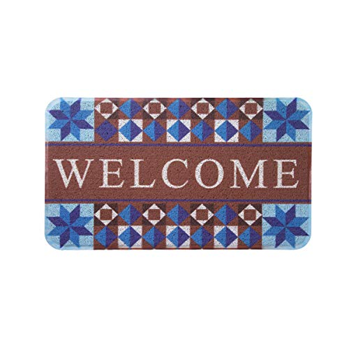 MAYSHINE Door Mat Non-Slip Mud Doormat Indoor/Outdoor Super Absorbs Washable Dirt Trapper Mats Rubber Backed Shoes Scraper House Entrance Rug for Garden- Welcome Colorful by MAYSHINE