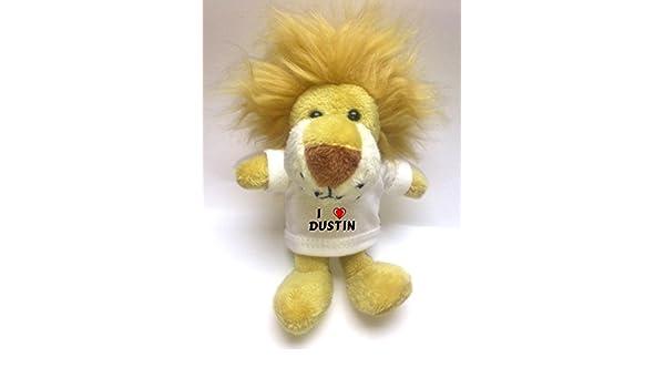 León de peluche (llavero) con Amo Dustin en la camiseta ...