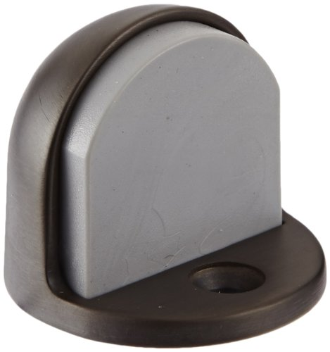 Rockwood 441H.10B Bronze Floor Mount Cast Universal Dome Stop, #12 X 1-1/4'' FH WS Fastener with Plastic Anchor and 12-24 x 1'' FH MS Fastener with Lead Anchor, 1-7/8'' Base Diameter x 7/32'' Base Length, Satin Oxidized Oil Rubbed Finish by Rockwood