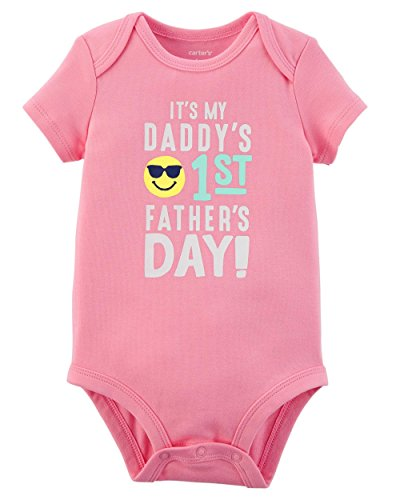 Day Collectible - Carter's Baby Girls' Fathers Day Collectible Bodysuit 9 Months