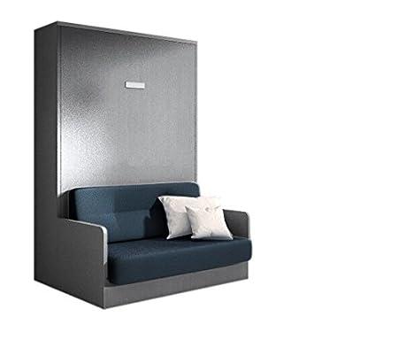 Joy Schrank Bett 160 X 200 Cm Grau Matt Mit Sofa Amazon De Kuche