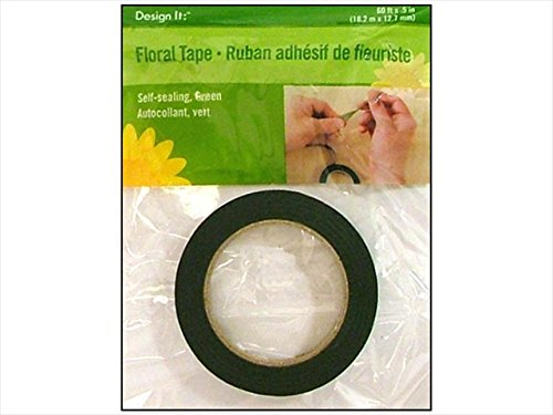 Floracraft FLORS9663 Floracraft Floral Tape - Green, 0.5 In. x 60 Ft. - Pack of 6